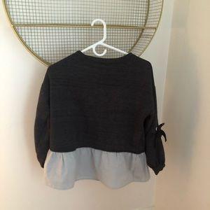 Zara Oversized Fleece Sweatshirt with Shirt Flare